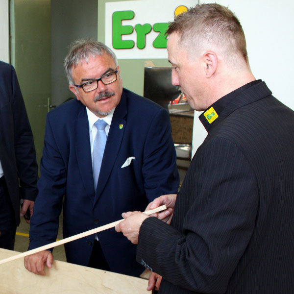 Der Besuch des Landrates in Grünhainichen-Der Besuch des Landrates in Grünhainichen